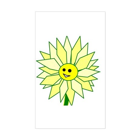Happy Flower Rectangle Sticker
