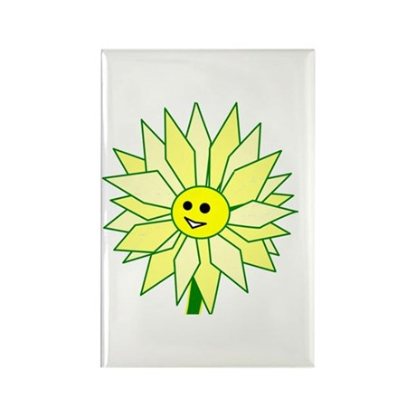 Happy Flower Rectangle Magnet (10 pack)