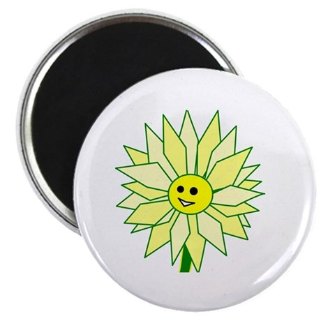 "Happy Flower 2.25"" Magnet (10 pack)"