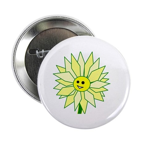 "Happy Flower 2.25"" Button (10 pack)"