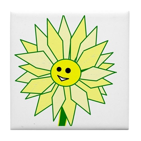 Happy Flower Tile Coaster