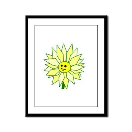 Happy Flower Framed Panel Print