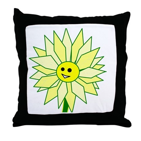 Happy Flower Throw Pillow
