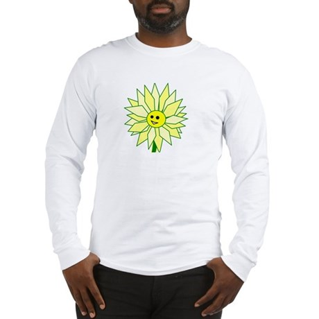 Happy Flower t-shirt Long Sleeve T-Shirt