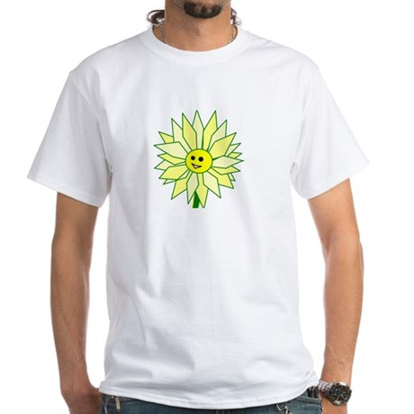 Happy Flower t-shirt White T-Shirt