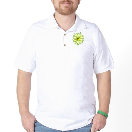 Happy Flower t-shirt Golf Shirt