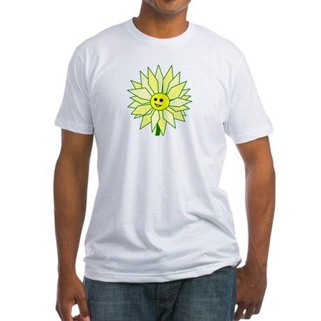 Happy Flower t-shirt Fitted T-Shirt