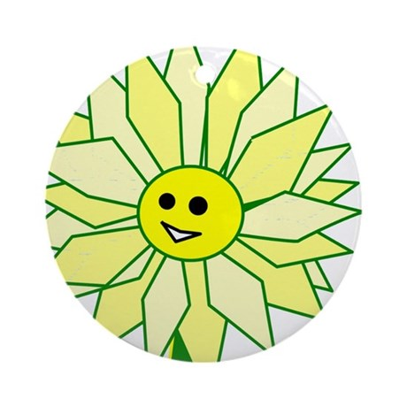 Happy Flower Ornament (Round)
