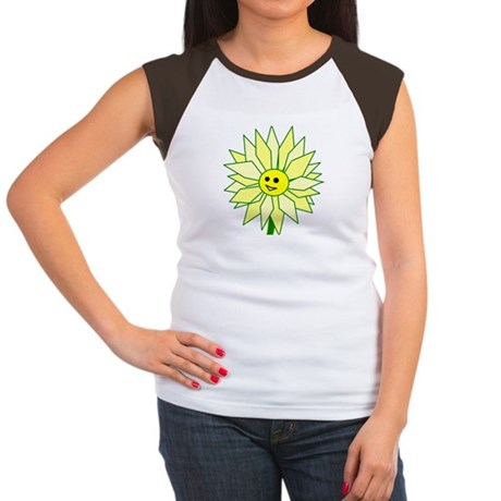 Happy Flower t-shirt Women's Cap Sleeve T-Shirt