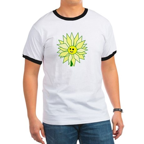 Happy Flower t-shirt Ringer T
