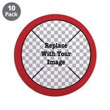 """Customizable Red 3.5"""" Button (10 pack)"""