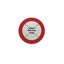 Customizable Red Mini Button