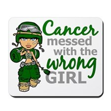 Combat Girl Liver Cancer Mousepad