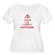 Keep Calm and Love a Bartender Plus Size T-Shirt
