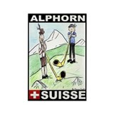 The Alphorn Shop Rectangle Magnet