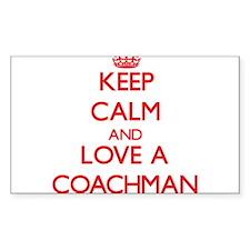 Keep Calm and Love a Coachman Decal