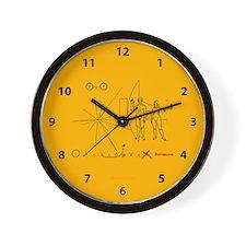 Pioneer Plaque Pluto Fix V3 Wall Clock