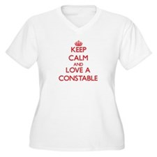 Keep Calm and Love a Constable Plus Size T-Shirt