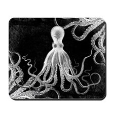 Vintage Octopus Dark Mousepad