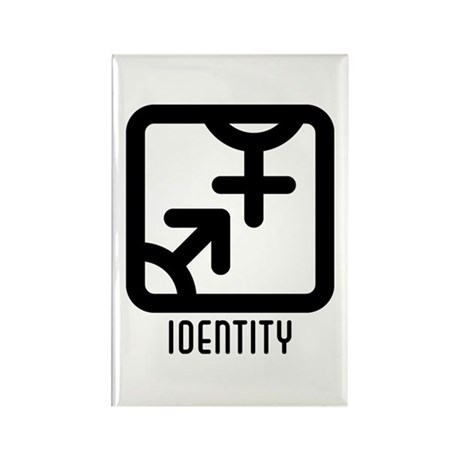 Identity : Both Rectangle Magnet (100 pack)