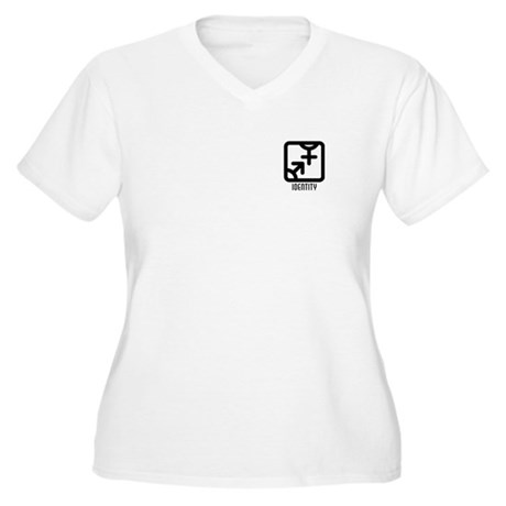 Identity : Both Women's Plus Size V-Neck T-Shirt