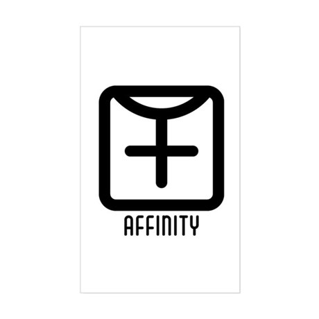 Affinity : Female Rectangle Sticker