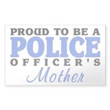 Officer's Mother Rectangle Decal
