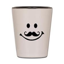 Smiley face mustache Shot Glass
