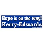 Hope is on the way Kerry Edwards Sticker