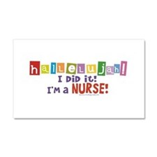 Cute Nurse graduation Car Magnet 20 x 12
