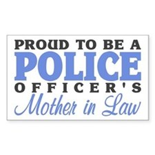 Proud Officer's MIL Rectangle Decal