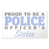 Officer's Sister Rectangle  Aufkleber