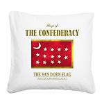 Van Dorn Flag (Flag 3).png Square Canvas Pillow