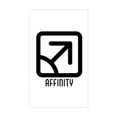 Affinity : Male Rectangle Sticker