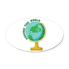 Around The World Oval Car Magnet