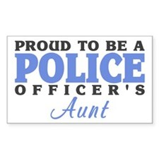 Proud Officer's Aunt Rectangle Stickers