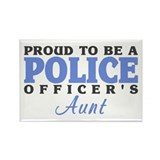 Proud Officer's Aunt Rectangle Magnet