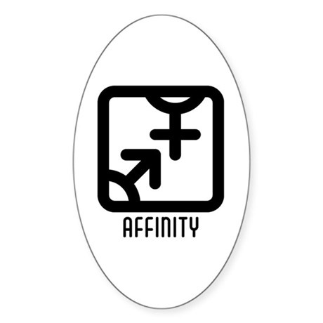 Affinity : Both Oval Sticker