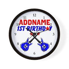 1 YR OLD ROCKER Wall Clock