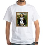 Mona's Bull Terrier White T-Shirt