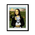 Mona's Bull Terrier Framed Panel Print