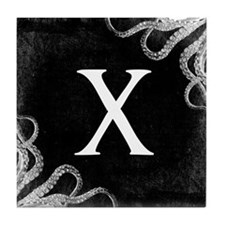 Gothic Tentacle MONOGRAM Tile Coaster