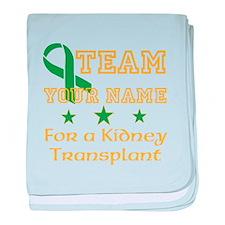 Personalize team Kidney baby blanket