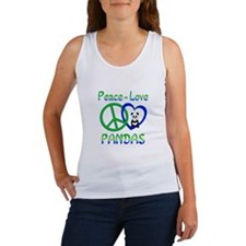 Peace Love Pandas Women's Tank Top