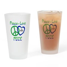 Peace Love Mice Drinking Glass