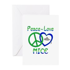 Peace Love Mice Greeting Cards (Pk of 10)