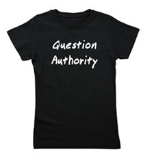 Question Authority Girl's Tee