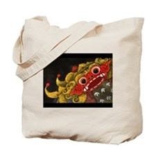 Double sided Balinese Barong Tote Bag