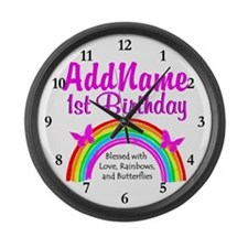 BLESSED 1 YR OLD Large Wall Clock