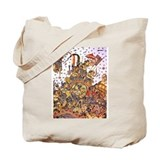 Double sided Balinese Mahabarata Tote Bag